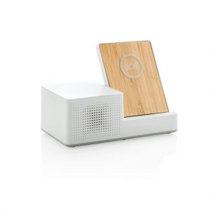 Ontario 5W wireless charger with speaker- MCK Promotions