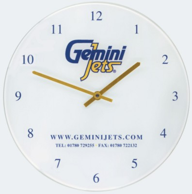 RECYCLED GLASS WALL CLOCK- MCK PROMOTIONS