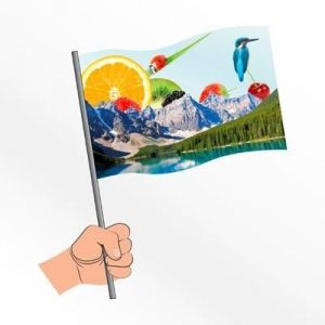 SMALL STADIUM PAPER HAND WAVING FLAG- MCK PROMOTIONS