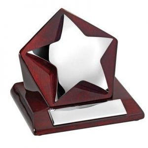 STAR ON WOOD TROPHY AWARD- MCK PROMOTIONS