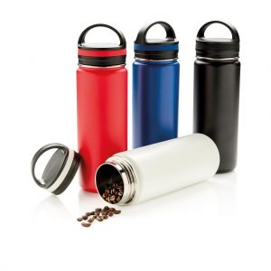 Vacuum insulated leak proof wide mouth bottle- MCK Promotions