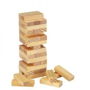 WOOD TUMBLING TOWER TANGA GAME- MCK PROMOTIONS