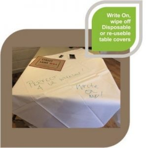 WRITE ON TABLE COVER- MCK Promotions