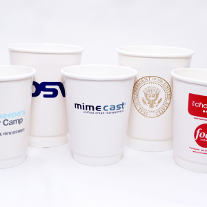 No matter what you need printed paper cups for whether it be cold drinks or hot drinks, We supply a range of branded and bespoke printed single and double wall cups in 4oz, 8oz, 10oz, 12oz, 16oz & 20oz and are available with sip lids and printed cup sleeves All our disposable paper cups are biodegradable, compostable or recyclable helping you do your part for the environment. No Minimum Order Branded with your company logo Custom printed in up to 6 spot colours Fully Recyclable Single and double wall branded paper cups availableNo matter what you need printed paper cups for whether it be cold drinks or hot drinks, We supply a range of branded and bespoke printed single and double wall cups in 4oz, 8oz, 10oz, 12oz, 16oz & 20oz and are available with sip lids and printed cup sleeves All our disposable paper cups are biodegradable, compostable or recyclable helping you do your part for the environment. No Minimum Order Branded with your company logo Custom printed in up to 6 spot colours Fully Recyclable Single and double wall branded paper cups available