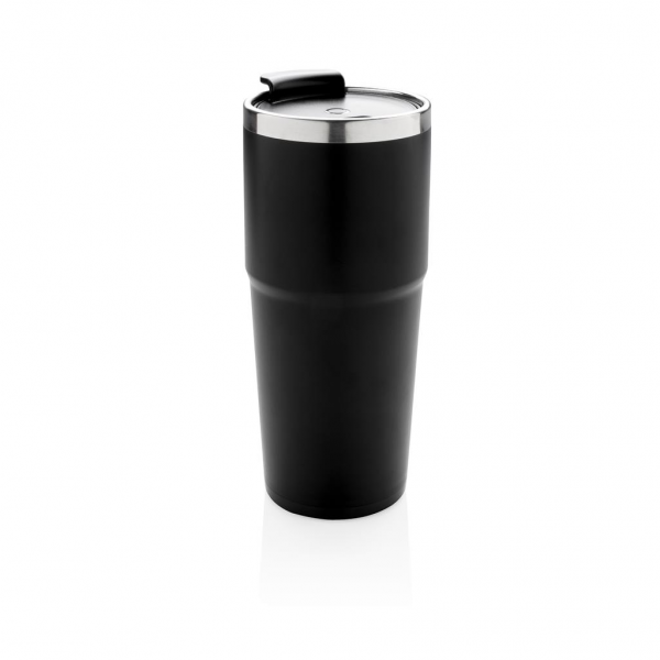 Double wall tumbler. 304 SS inside and ABS plastic outside. Engrave your logo and when picked up and shaken, the tumbler will light up your logo. Including 2 CR2032 cell battery Content: 480 ml.