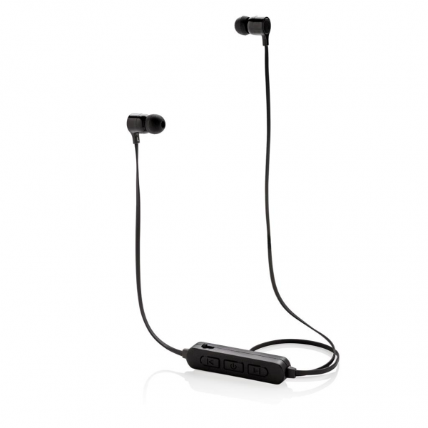Wireless earbuds that can be customised with your logo to light up on the control panel for optimal exposure of your brand. The earbuds use BT 4.2 for smooth connection up to 10 metres. The built-in 55 mAh battery allows you to play music for up to 3 hours on 1 charge and re-charge is done in 1.5 hours. With microphone/pick up function to answer calls.