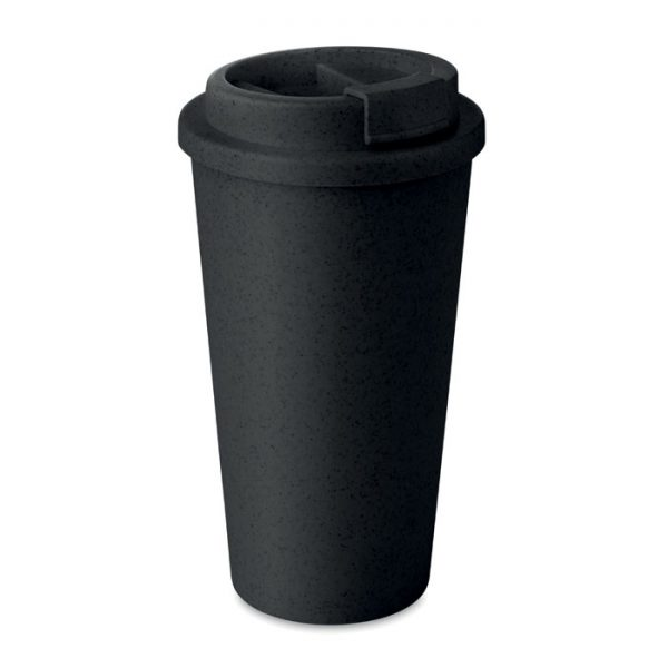 Black Double Walled Bamboo Cup_MCK Promotions - Copy