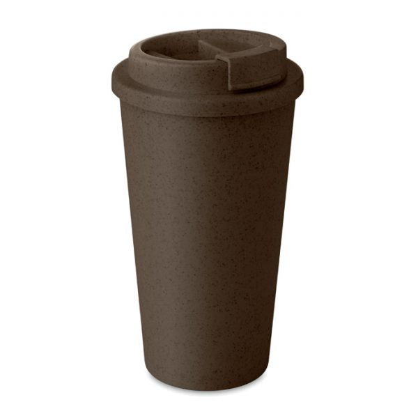 Brown Double Walled Bamboo Cup_MCK Promotions